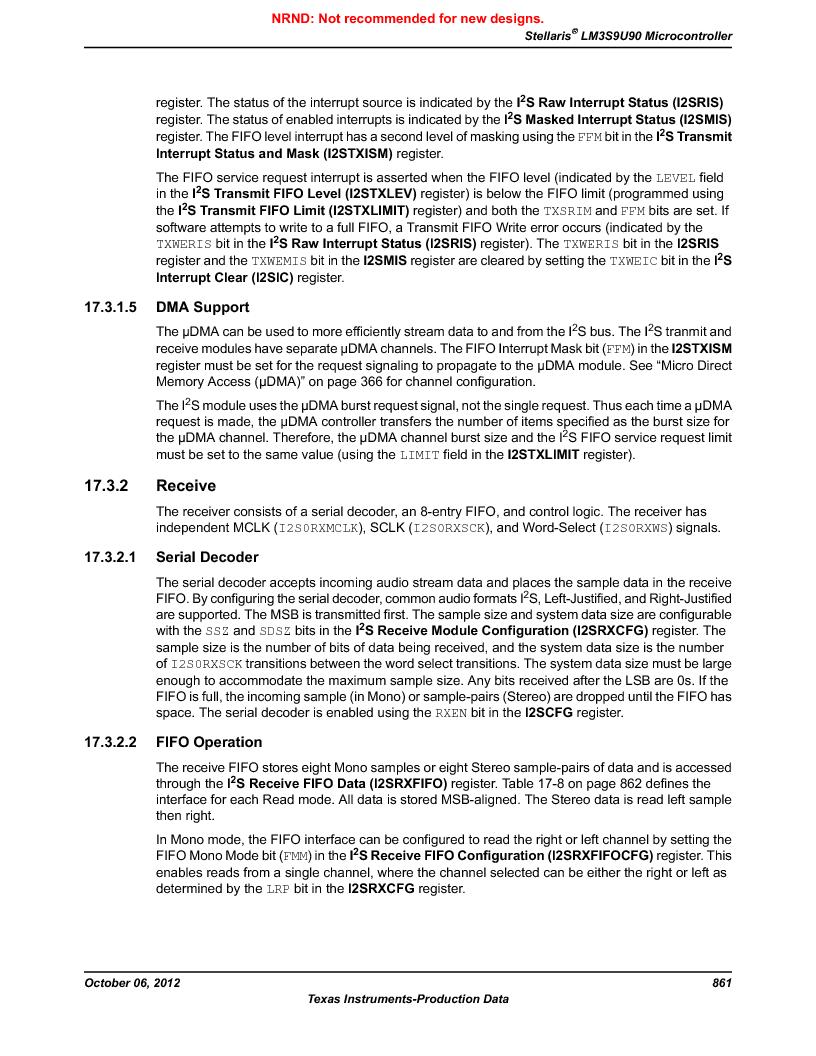 LM3S9U90 ,Texas Instruments厂商,Stellaris LM3S Microcontroller 108-NFBGA -40 to 85, LM3S9U90 datasheet预览  第861页