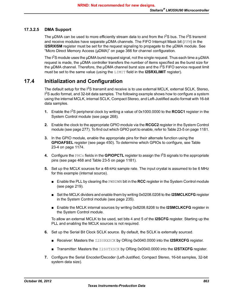LM3S9U90 ,Texas Instruments厂商,Stellaris LM3S Microcontroller 108-NFBGA -40 to 85, LM3S9U90 datasheet预览  第863页