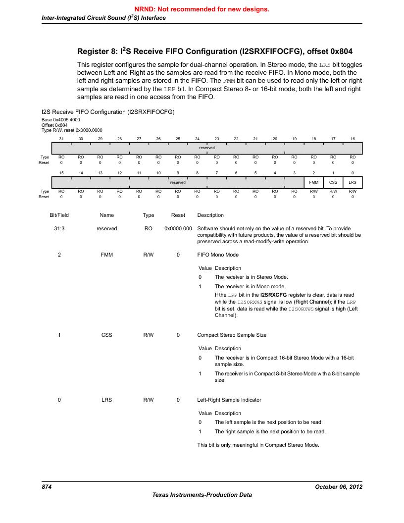 LM3S9U90 ,Texas Instruments厂商,Stellaris LM3S Microcontroller 108-NFBGA -40 to 85, LM3S9U90 datasheet预览  第874页