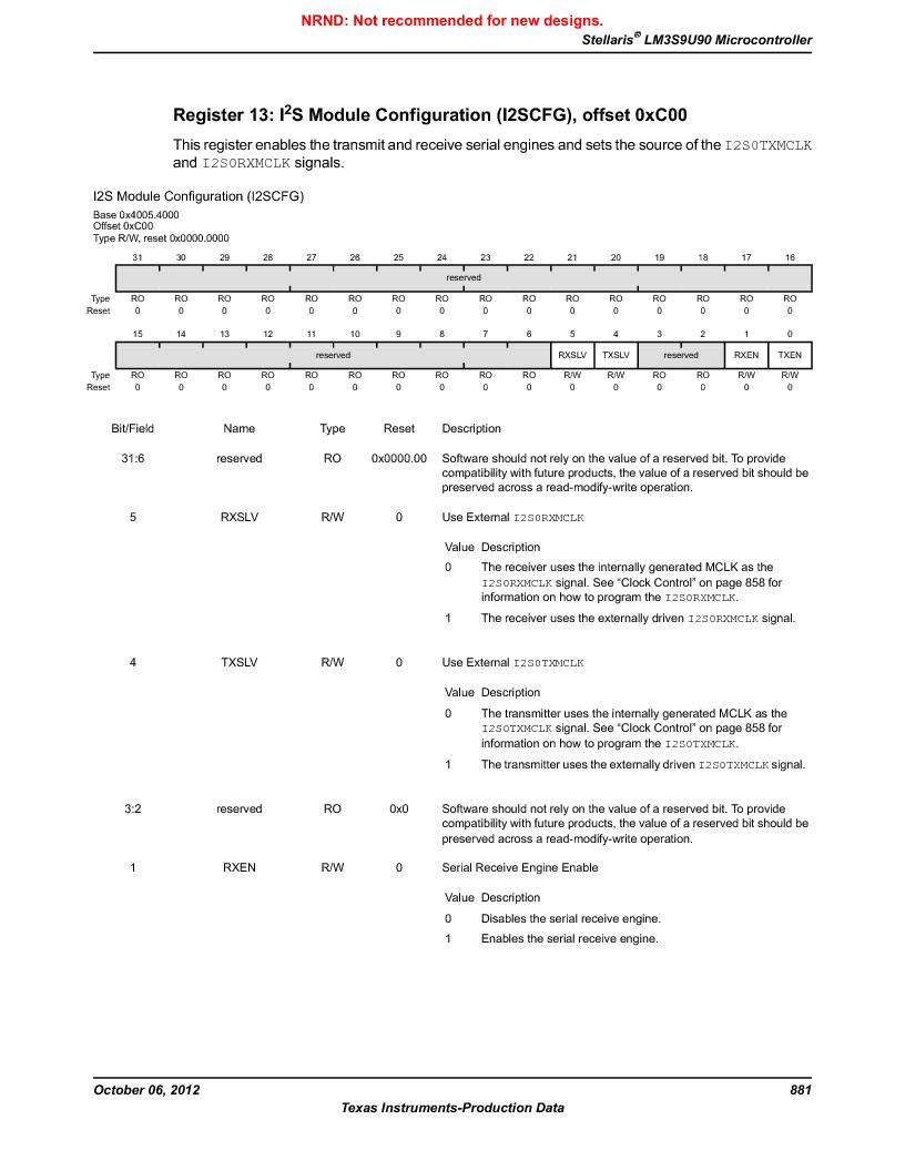 LM3S9U90 ,Texas Instruments厂商,Stellaris LM3S Microcontroller 108-NFBGA -40 to 85, LM3S9U90 datasheet预览  第881页