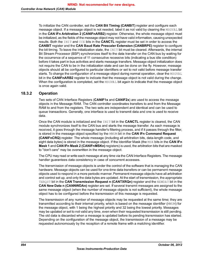 LM3S9U90 ,Texas Instruments厂商,Stellaris LM3S Microcontroller 108-NFBGA -40 to 85, LM3S9U90 datasheet预览  第894页
