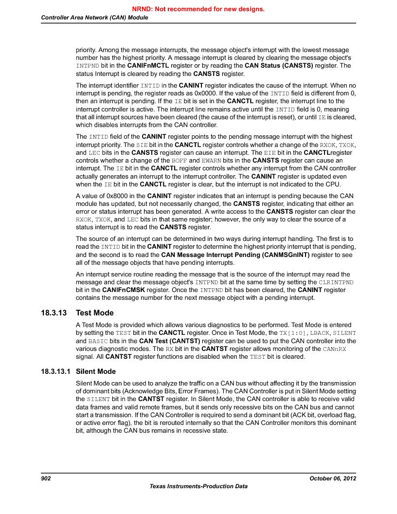 LM3S9U90 ,Texas Instruments厂商,Stellaris LM3S Microcontroller 108-NFBGA -40 to 85, LM3S9U90 datasheet预览  第902页