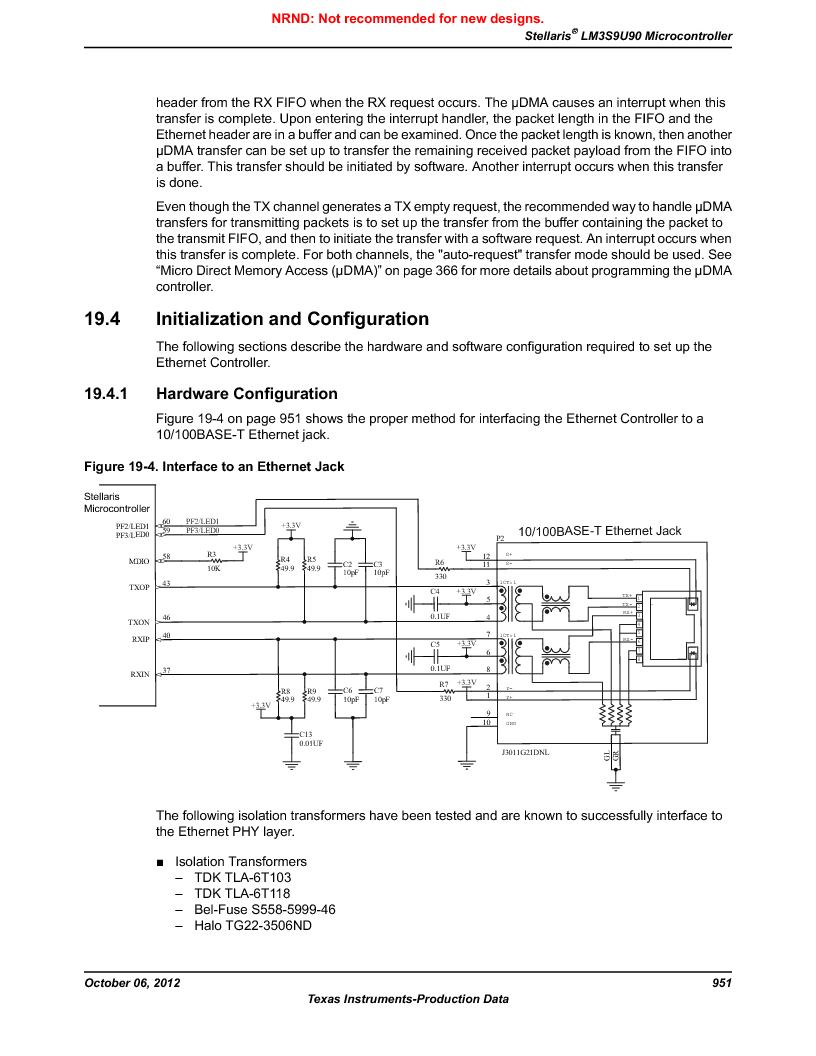 LM3S9U90 ,Texas Instruments厂商,Stellaris LM3S Microcontroller 108-NFBGA -40 to 85, LM3S9U90 datasheet预览  第951页