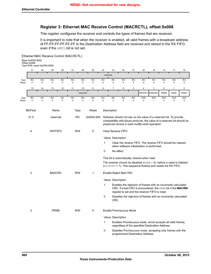 LM3S9U90 ,Texas Instruments厂商,Stellaris LM3S Microcontroller 108-NFBGA -40 to 85, LM3S9U90 datasheet预览  第960页