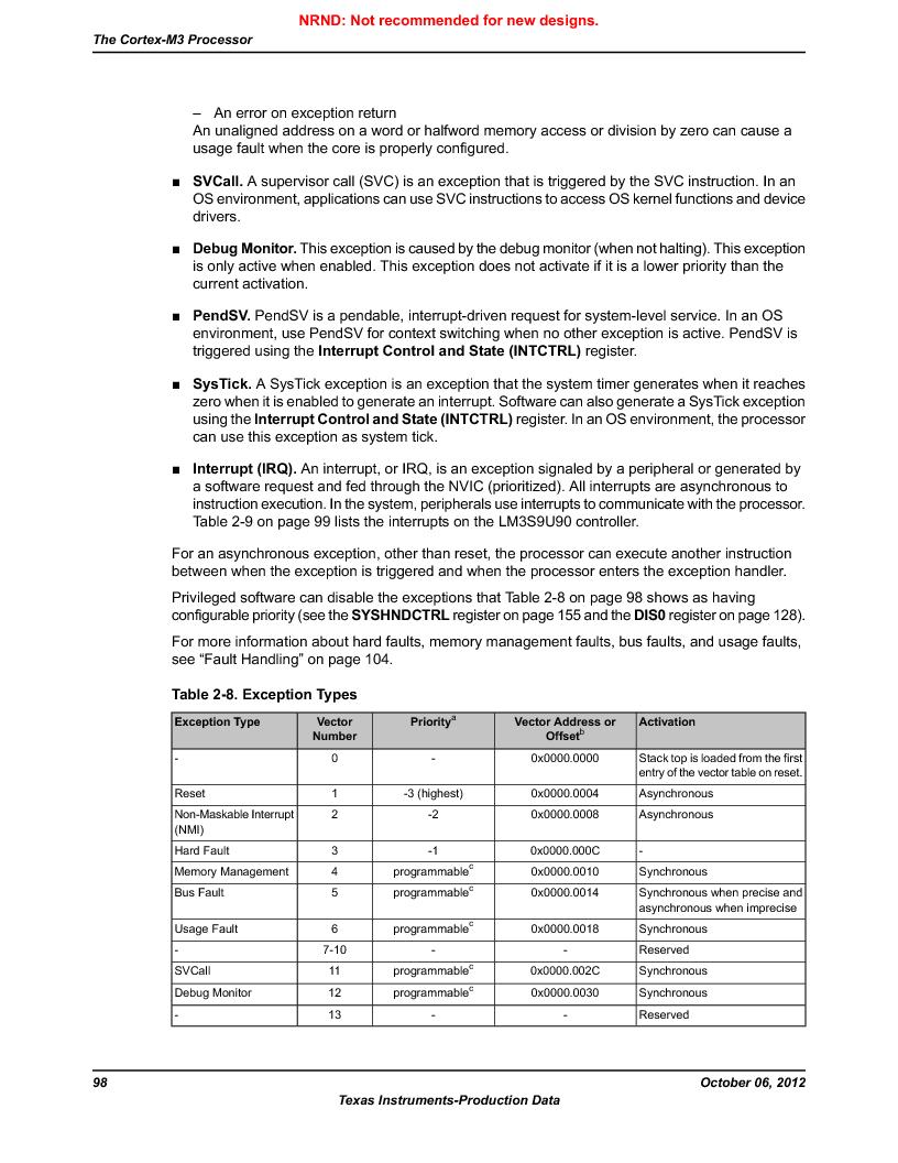 LM3S9U90 ,Texas Instruments厂商,Stellaris LM3S Microcontroller 108-NFBGA -40 to 85, LM3S9U90 datasheet预览  第98页