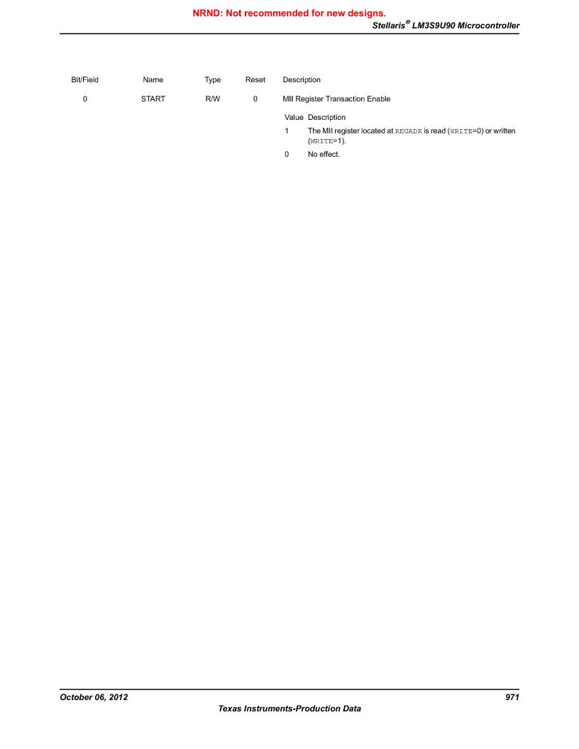 LM3S9U90 ,Texas Instruments厂商,Stellaris LM3S Microcontroller 108-NFBGA -40 to 85, LM3S9U90 datasheet预览  第971页