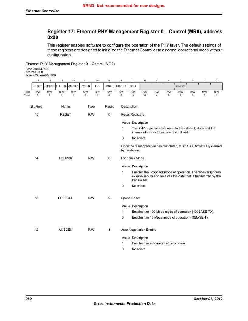 LM3S9U90 ,Texas Instruments厂商,Stellaris LM3S Microcontroller 108-NFBGA -40 to 85, LM3S9U90 datasheet预览  第980页