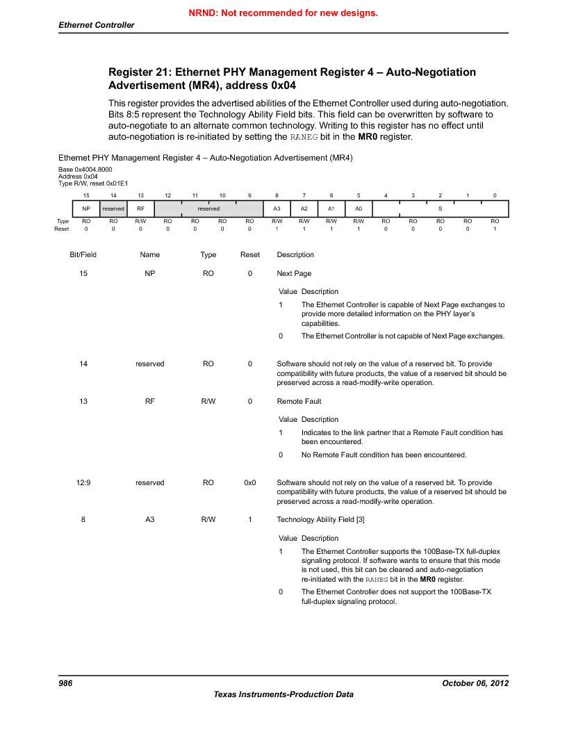 LM3S9U90 ,Texas Instruments厂商,Stellaris LM3S Microcontroller 108-NFBGA -40 to 85, LM3S9U90 datasheet预览  第986页