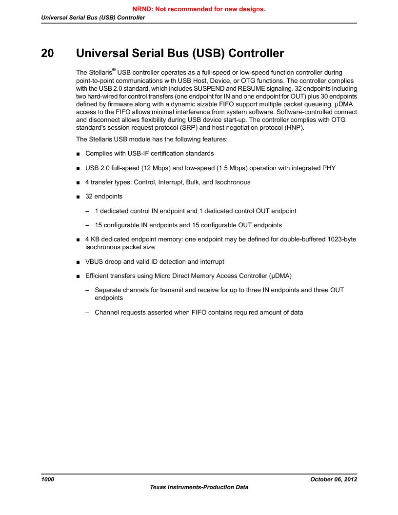 LM3S9U90 ,Texas Instruments厂商,Stellaris LM3S Microcontroller 108-NFBGA -40 to 85, LM3S9U90 datasheet预览  第1000页