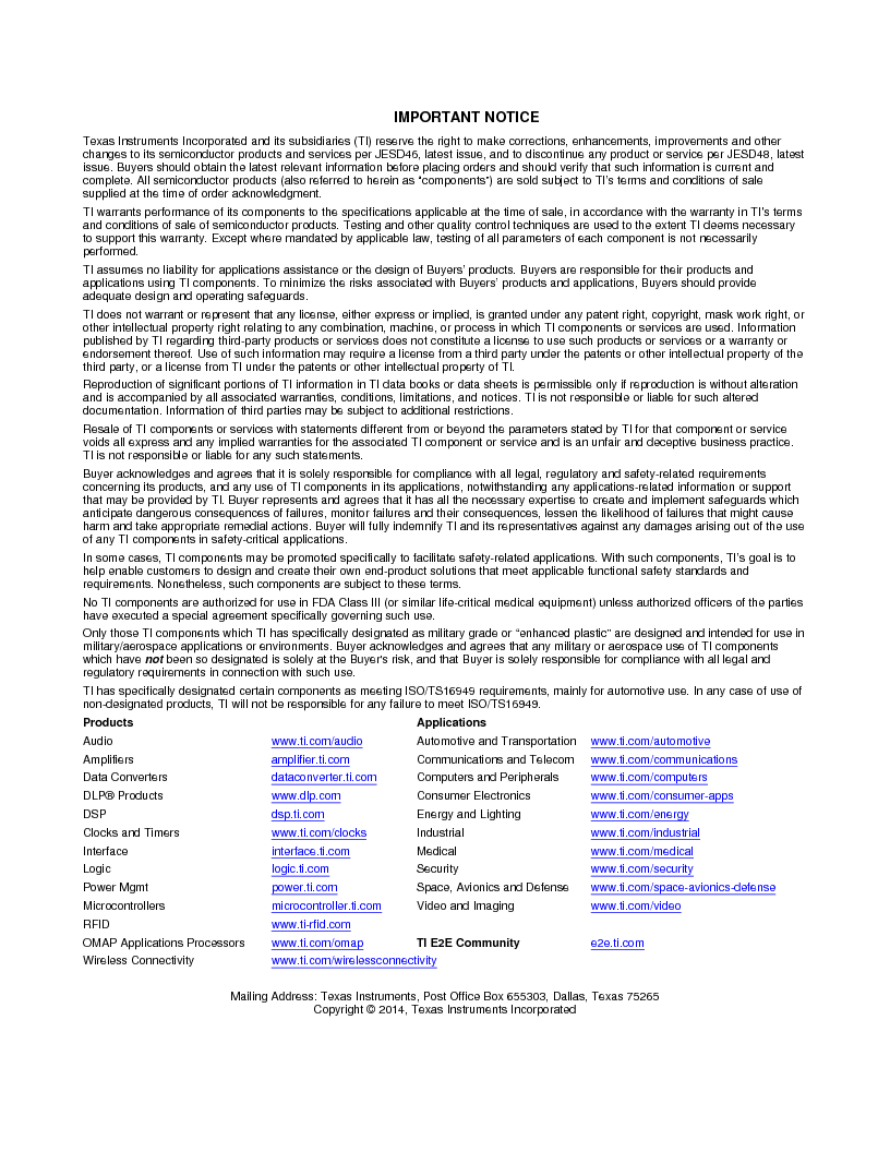 ULN2003ADG4 ,Texas Instruments厂商,High-Voltage, High-Current Darlington Transistor Arrays 16-SOIC -20 to 70, ULN2003ADG4 datasheet预览  第29页