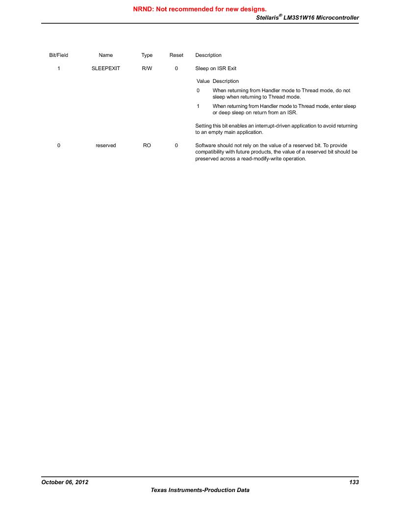 LM3S1W16-IQR50-C5 ,Texas Instruments厂商,Stellaris LM3S Microcontroller 64-LQFP -40 to 85, LM3S1W16-IQR50-C5 datasheet预览  第133页
