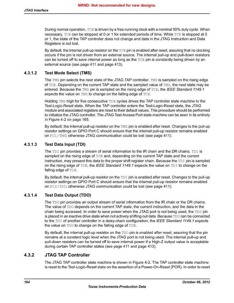 LM3S1W16-IQR50-C5 ,Texas Instruments厂商,Stellaris LM3S Microcontroller 64-LQFP -40 to 85, LM3S1W16-IQR50-C5 datasheet预览  第164页