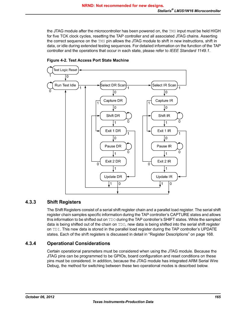 LM3S1W16-IQR50-C5 ,Texas Instruments厂商,Stellaris LM3S Microcontroller 64-LQFP -40 to 85, LM3S1W16-IQR50-C5 datasheet预览  第165页