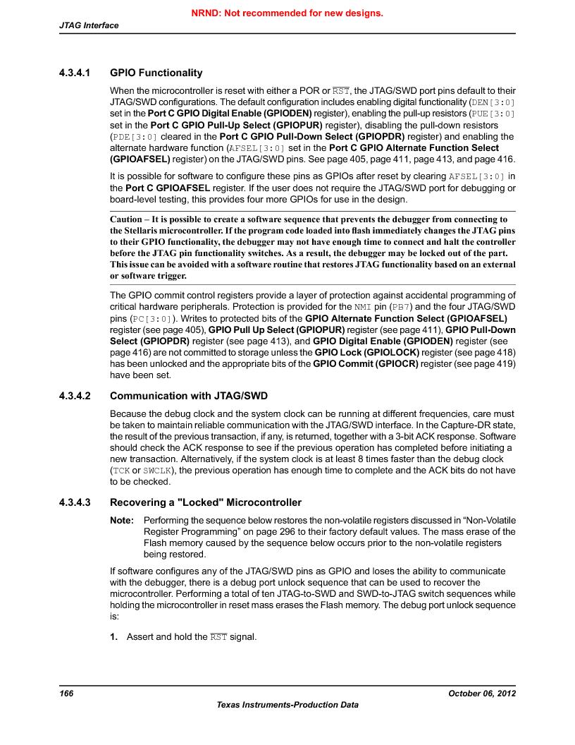 LM3S1W16-IQR50-C5 ,Texas Instruments厂商,Stellaris LM3S Microcontroller 64-LQFP -40 to 85, LM3S1W16-IQR50-C5 datasheet预览  第166页