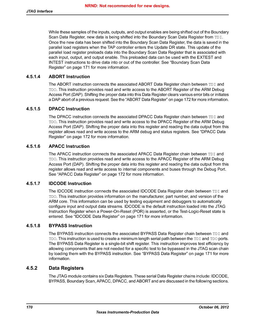 LM3S1W16-IQR50-C5 ,Texas Instruments厂商,Stellaris LM3S Microcontroller 64-LQFP -40 to 85, LM3S1W16-IQR50-C5 datasheet预览  第170页