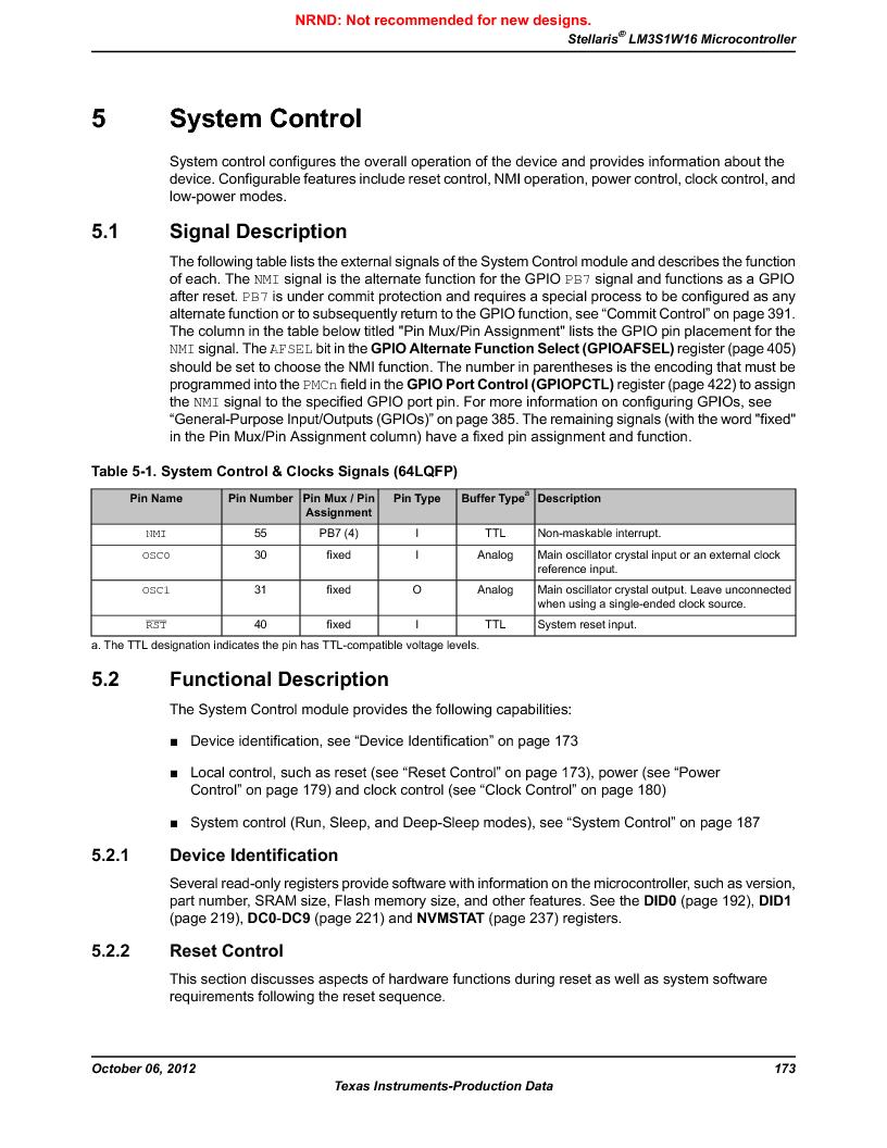 LM3S1W16-IQR50-C5 ,Texas Instruments厂商,Stellaris LM3S Microcontroller 64-LQFP -40 to 85, LM3S1W16-IQR50-C5 datasheet预览  第173页