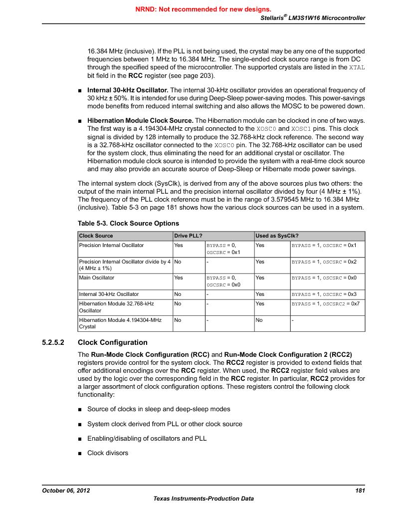 LM3S1W16-IQR50-C5 ,Texas Instruments厂商,Stellaris LM3S Microcontroller 64-LQFP -40 to 85, LM3S1W16-IQR50-C5 datasheet预览  第181页