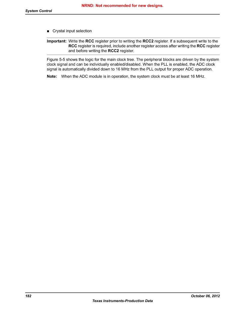 LM3S1W16-IQR50-C5 ,Texas Instruments厂商,Stellaris LM3S Microcontroller 64-LQFP -40 to 85, LM3S1W16-IQR50-C5 datasheet预览  第182页