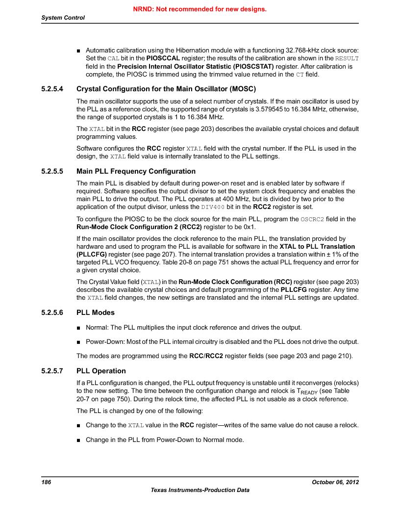 LM3S1W16-IQR50-C5 ,Texas Instruments厂商,Stellaris LM3S Microcontroller 64-LQFP -40 to 85, LM3S1W16-IQR50-C5 datasheet预览  第186页