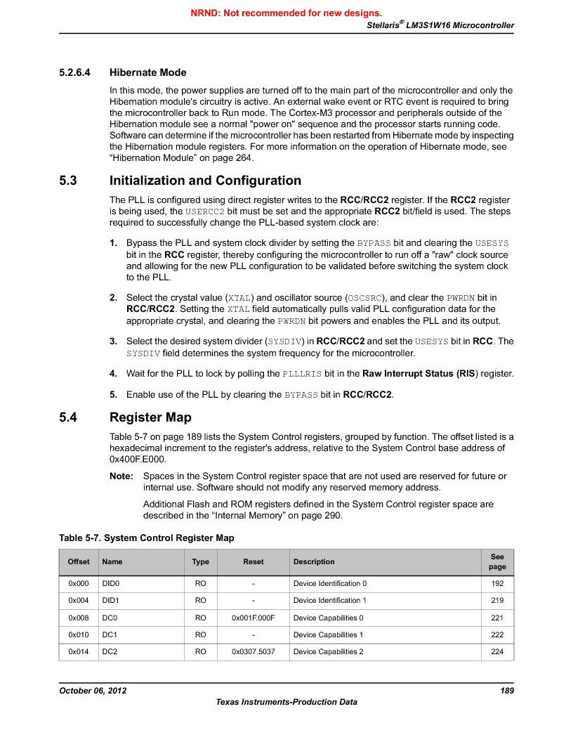 LM3S1W16-IQR50-C5 ,Texas Instruments厂商,Stellaris LM3S Microcontroller 64-LQFP -40 to 85, LM3S1W16-IQR50-C5 datasheet预览  第189页