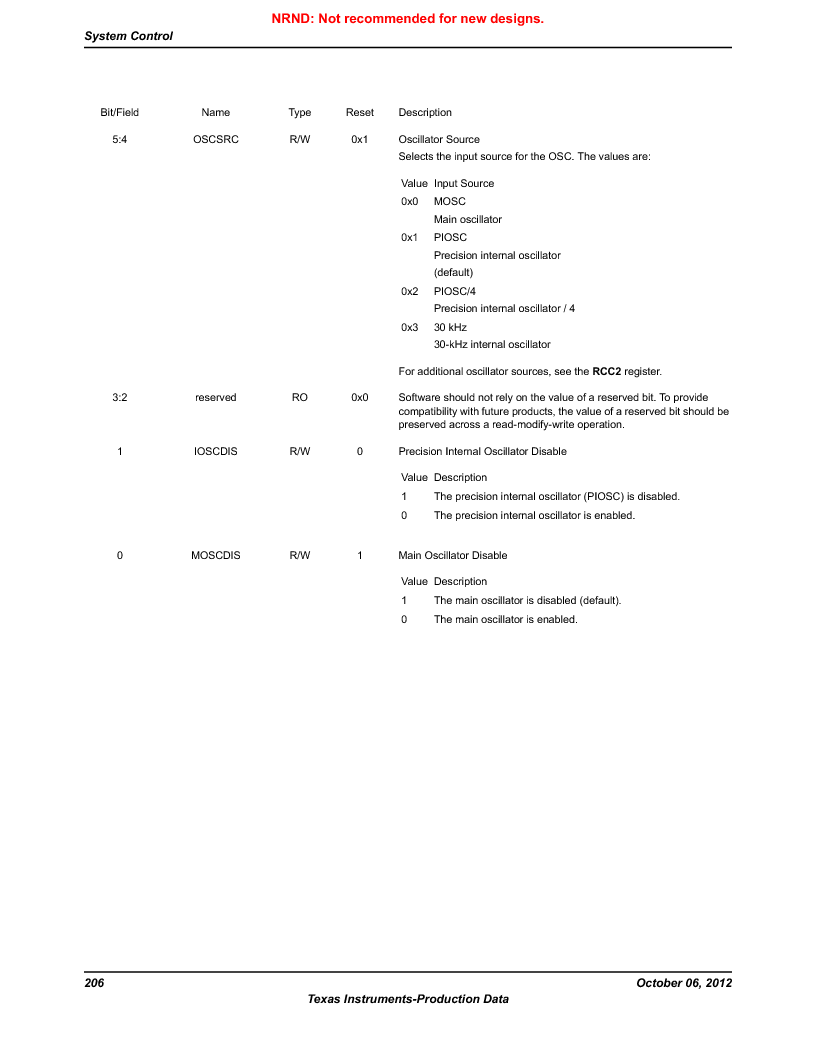 LM3S1W16-IQR50-C5 ,Texas Instruments厂商,Stellaris LM3S Microcontroller 64-LQFP -40 to 85, LM3S1W16-IQR50-C5 datasheet预览  第206页