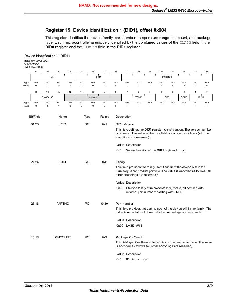 LM3S1W16-IQR50-C5 ,Texas Instruments厂商,Stellaris LM3S Microcontroller 64-LQFP -40 to 85, LM3S1W16-IQR50-C5 datasheet预览  第219页