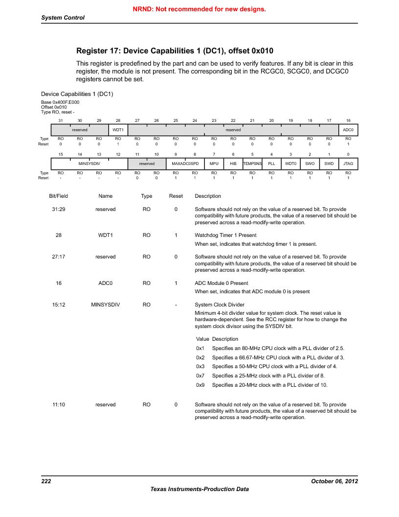LM3S1W16-IQR50-C5 ,Texas Instruments厂商,Stellaris LM3S Microcontroller 64-LQFP -40 to 85, LM3S1W16-IQR50-C5 datasheet预览  第222页