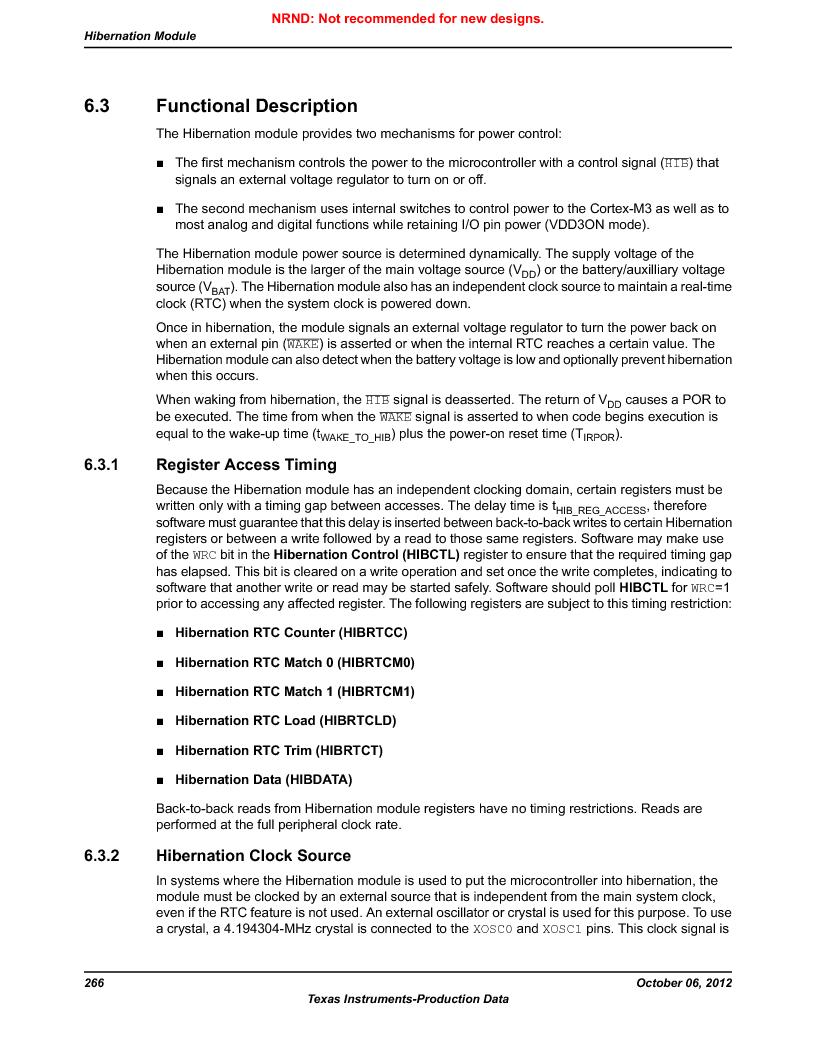 LM3S1W16-IQR50-C5 ,Texas Instruments厂商,Stellaris LM3S Microcontroller 64-LQFP -40 to 85, LM3S1W16-IQR50-C5 datasheet预览  第266页
