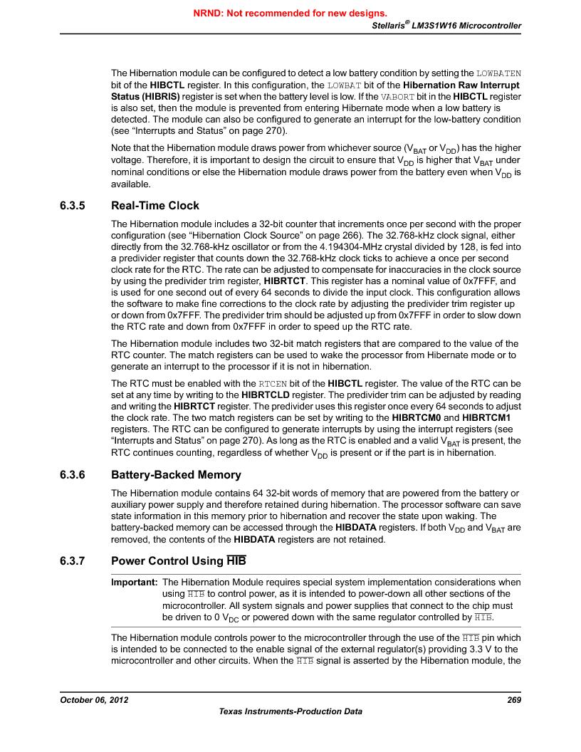 LM3S1W16-IQR50-C5 ,Texas Instruments厂商,Stellaris LM3S Microcontroller 64-LQFP -40 to 85, LM3S1W16-IQR50-C5 datasheet预览  第269页