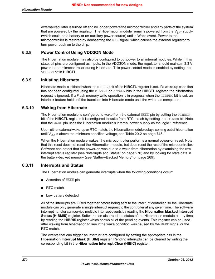 LM3S1W16-IQR50-C5 ,Texas Instruments厂商,Stellaris LM3S Microcontroller 64-LQFP -40 to 85, LM3S1W16-IQR50-C5 datasheet预览  第270页