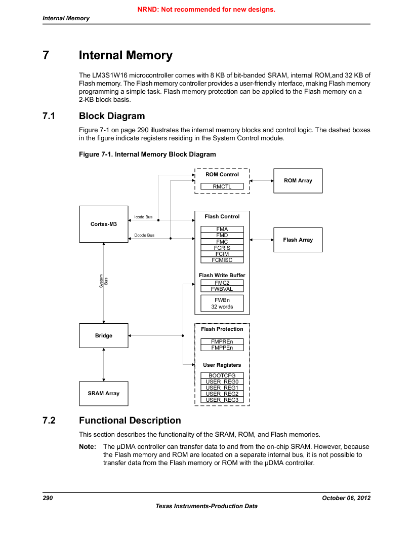 LM3S1W16-IQR50-C5 ,Texas Instruments厂商,Stellaris LM3S Microcontroller 64-LQFP -40 to 85, LM3S1W16-IQR50-C5 datasheet预览  第290页
