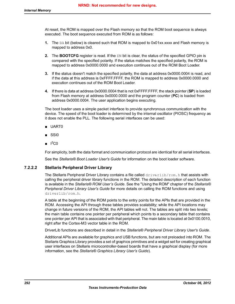 LM3S1W16-IQR50-C5 ,Texas Instruments厂商,Stellaris LM3S Microcontroller 64-LQFP -40 to 85, LM3S1W16-IQR50-C5 datasheet预览  第292页