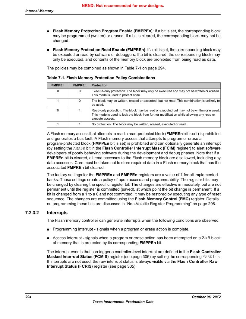 LM3S1W16-IQR50-C5 ,Texas Instruments厂商,Stellaris LM3S Microcontroller 64-LQFP -40 to 85, LM3S1W16-IQR50-C5 datasheet预览  第294页