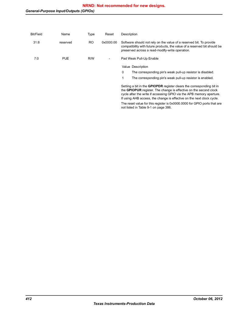 LM3S1W16-IQR50-C5 ,Texas Instruments厂商,Stellaris LM3S Microcontroller 64-LQFP -40 to 85, LM3S1W16-IQR50-C5 datasheet预览  第412页