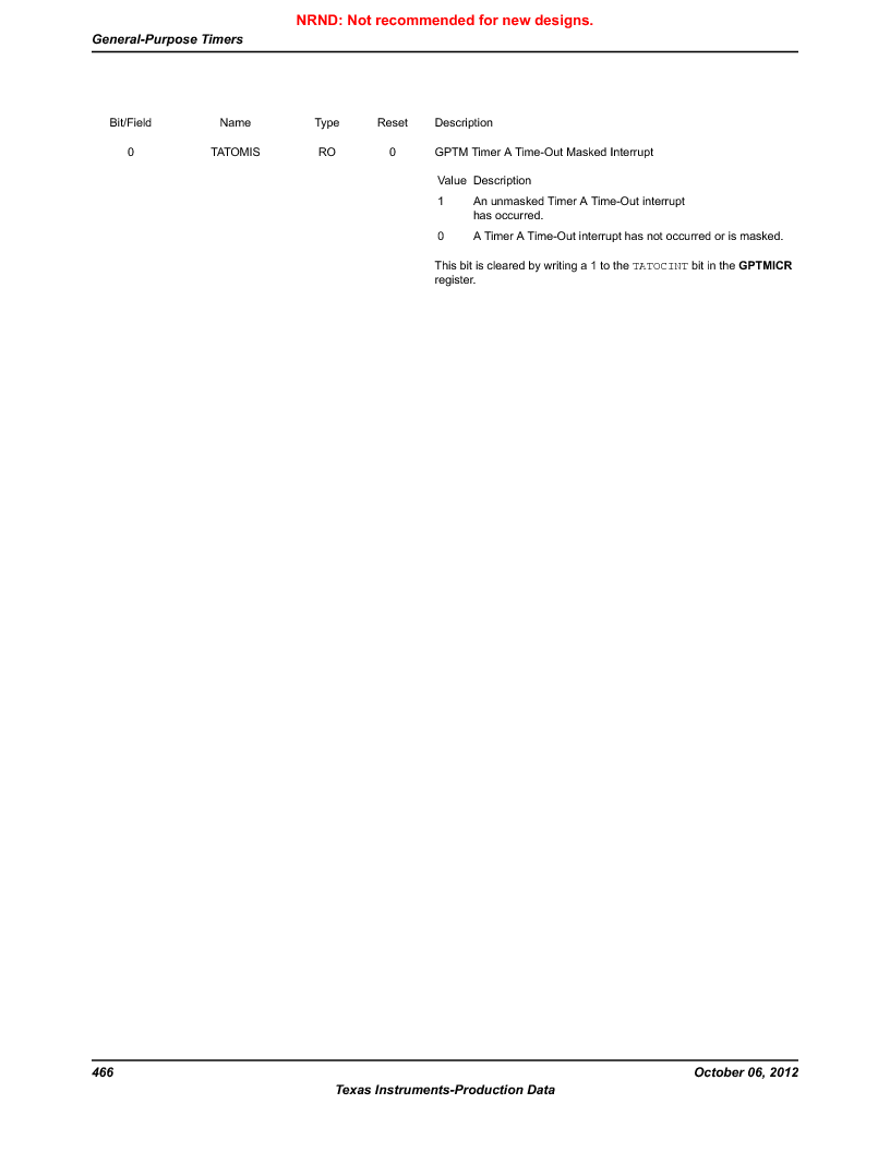 LM3S1W16-IQR50-C5 ,Texas Instruments厂商,Stellaris LM3S Microcontroller 64-LQFP -40 to 85, LM3S1W16-IQR50-C5 datasheet预览  第466页