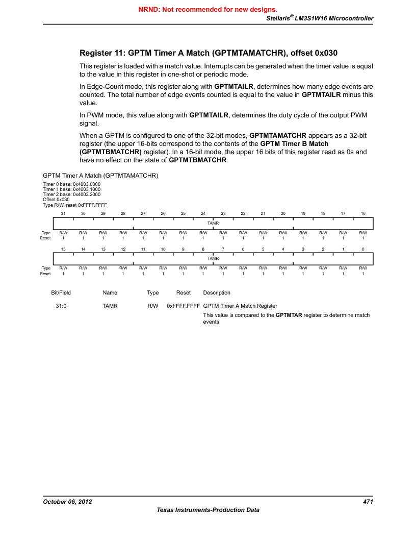 LM3S1W16-IQR50-C5 ,Texas Instruments厂商,Stellaris LM3S Microcontroller 64-LQFP -40 to 85, LM3S1W16-IQR50-C5 datasheet预览  第471页