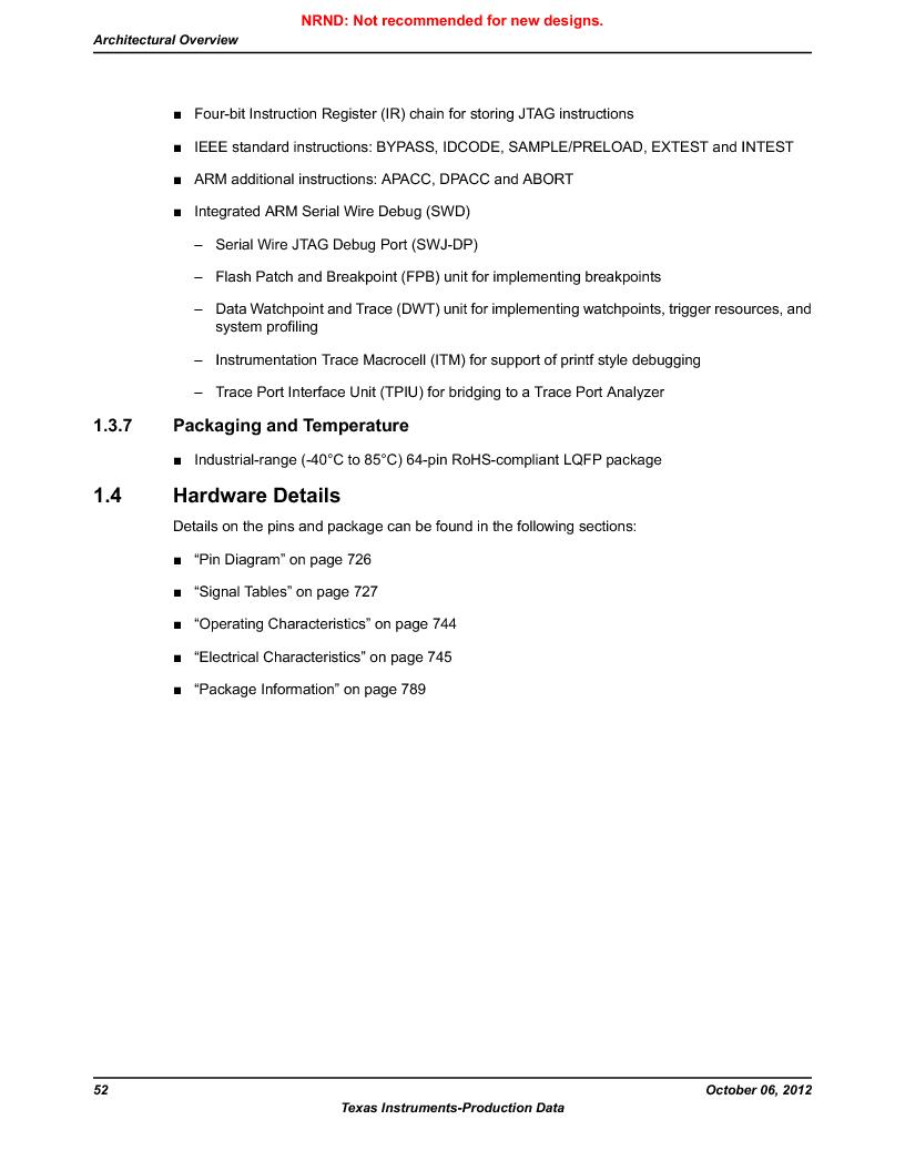 LM3S1W16-IQR50-C5 ,Texas Instruments厂商,Stellaris LM3S Microcontroller 64-LQFP -40 to 85, LM3S1W16-IQR50-C5 datasheet预览  第52页