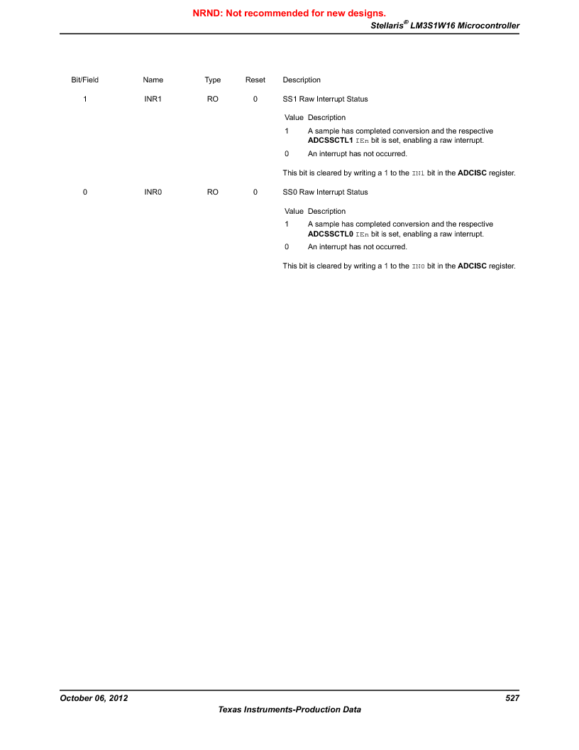 LM3S1W16-IQR50-C5 ,Texas Instruments厂商,Stellaris LM3S Microcontroller 64-LQFP -40 to 85, LM3S1W16-IQR50-C5 datasheet预览  第527页