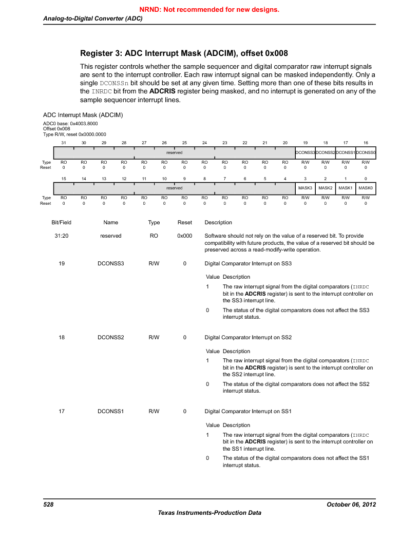 LM3S1W16-IQR50-C5 ,Texas Instruments厂商,Stellaris LM3S Microcontroller 64-LQFP -40 to 85, LM3S1W16-IQR50-C5 datasheet预览  第528页