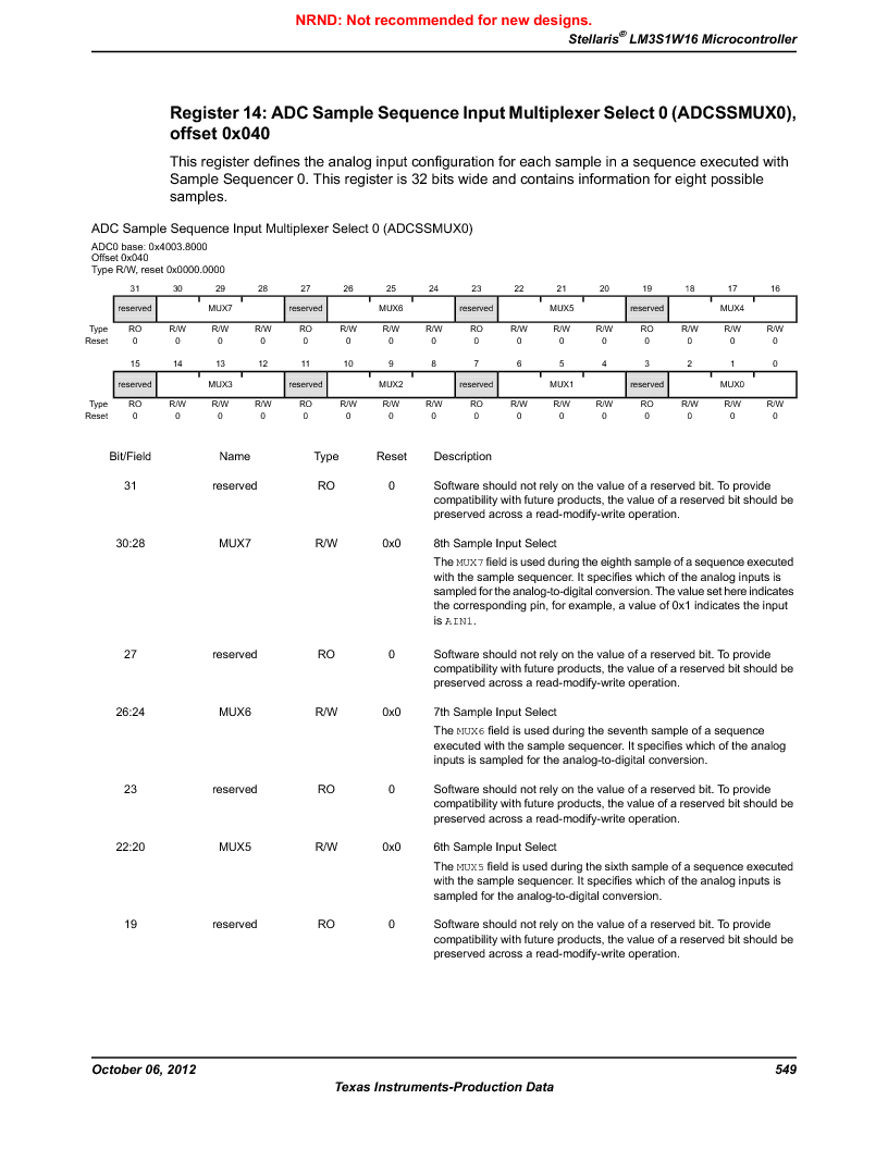 LM3S1W16-IQR50-C5 ,Texas Instruments厂商,Stellaris LM3S Microcontroller 64-LQFP -40 to 85, LM3S1W16-IQR50-C5 datasheet预览  第549页