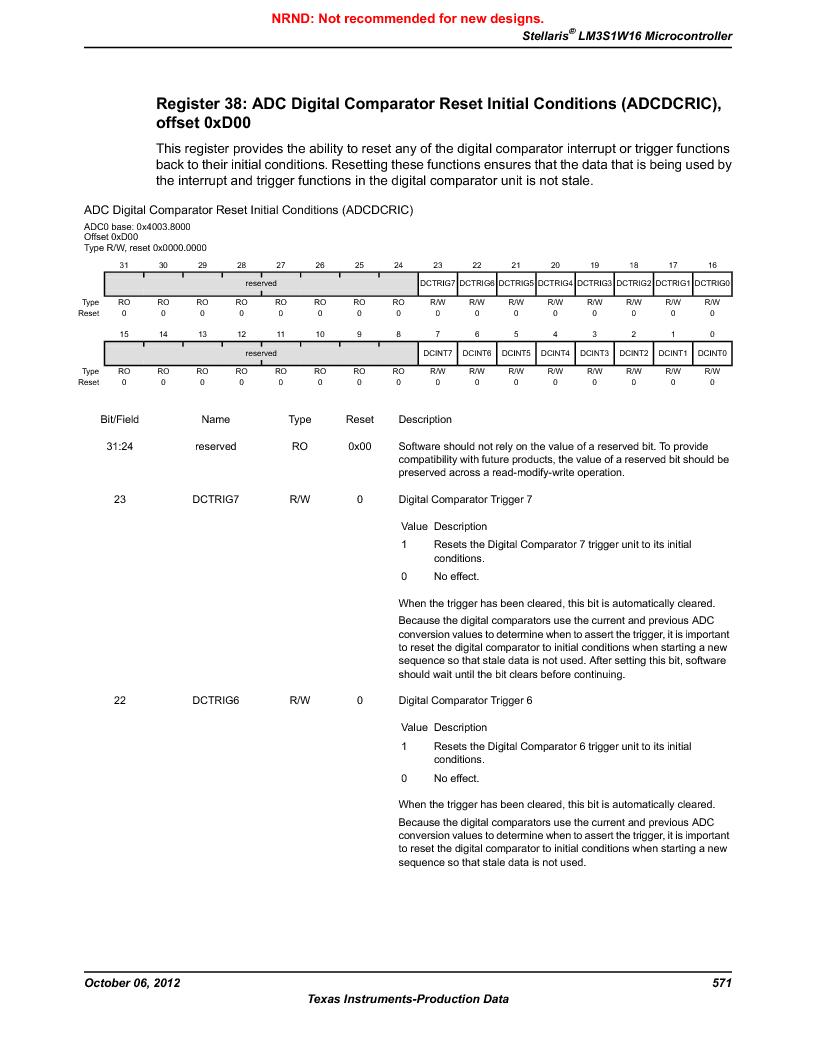 LM3S1W16-IQR50-C5 ,Texas Instruments厂商,Stellaris LM3S Microcontroller 64-LQFP -40 to 85, LM3S1W16-IQR50-C5 datasheet预览  第571页
