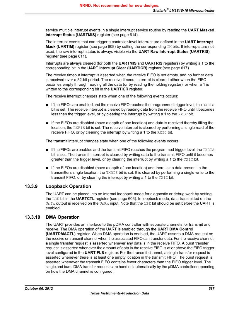 LM3S1W16-IQR50-C5 ,Texas Instruments厂商,Stellaris LM3S Microcontroller 64-LQFP -40 to 85, LM3S1W16-IQR50-C5 datasheet预览  第587页
