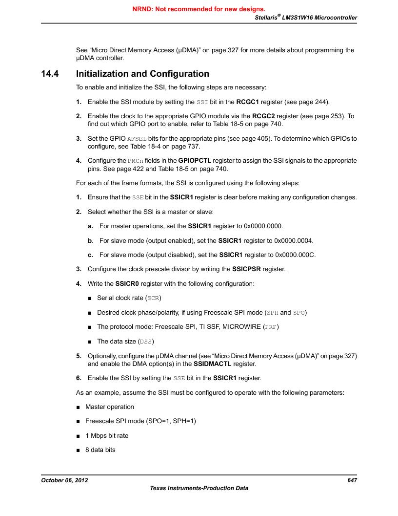 LM3S1W16-IQR50-C5 ,Texas Instruments厂商,Stellaris LM3S Microcontroller 64-LQFP -40 to 85, LM3S1W16-IQR50-C5 datasheet预览  第647页