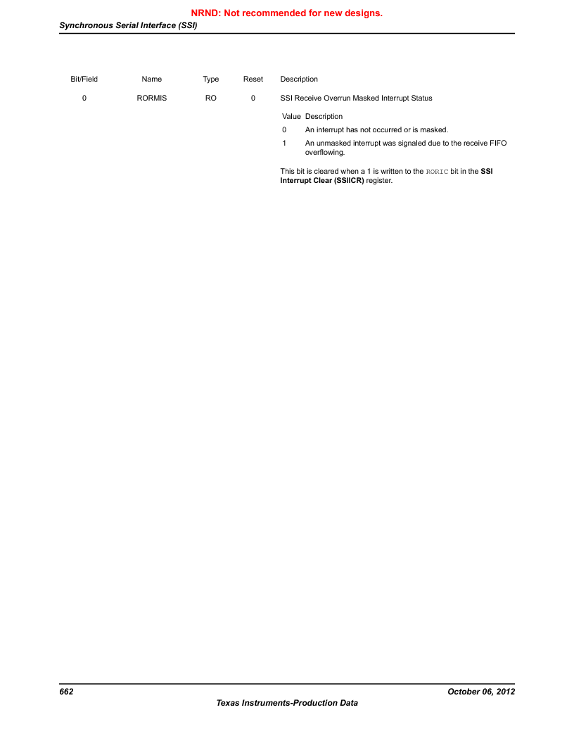 LM3S1W16-IQR50-C5 ,Texas Instruments厂商,Stellaris LM3S Microcontroller 64-LQFP -40 to 85, LM3S1W16-IQR50-C5 datasheet预览  第662页