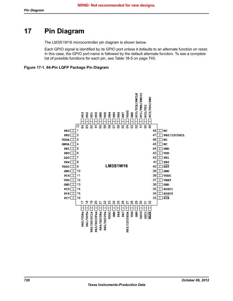 LM3S1W16-IQR50-C5 ,Texas Instruments厂商,Stellaris LM3S Microcontroller 64-LQFP -40 to 85, LM3S1W16-IQR50-C5 datasheet预览  第726页