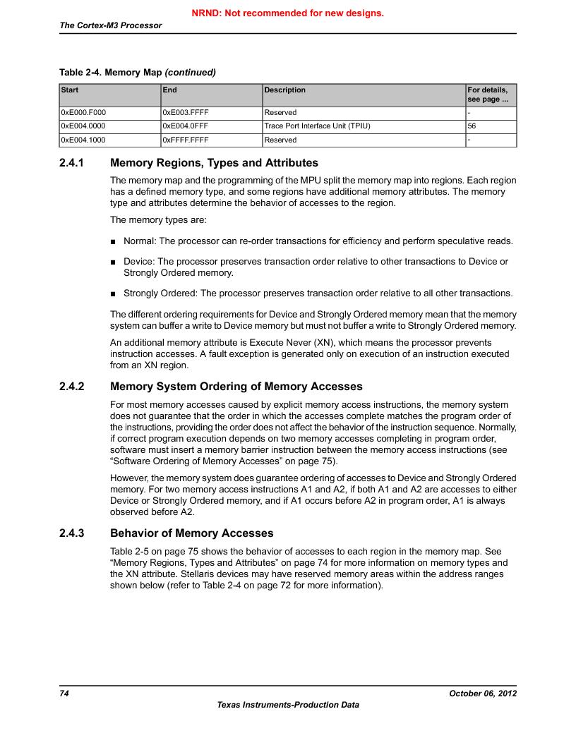 LM3S1W16-IQR50-C5 ,Texas Instruments厂商,Stellaris LM3S Microcontroller 64-LQFP -40 to 85, LM3S1W16-IQR50-C5 datasheet预览  第74页