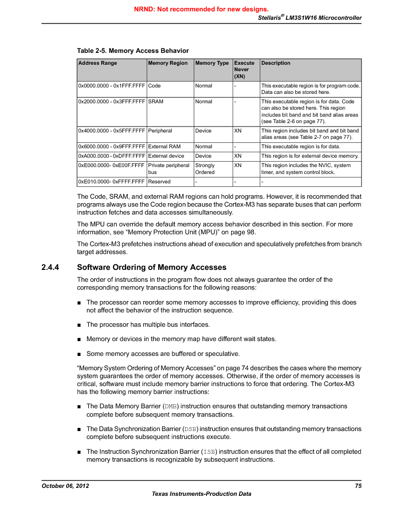LM3S1W16-IQR50-C5 ,Texas Instruments厂商,Stellaris LM3S Microcontroller 64-LQFP -40 to 85, LM3S1W16-IQR50-C5 datasheet预览  第75页