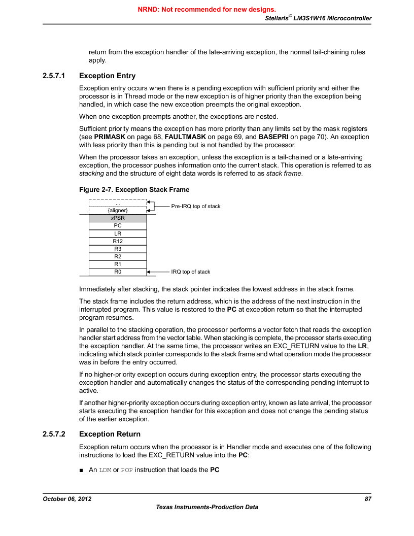 LM3S1W16-IQR50-C5 ,Texas Instruments厂商,Stellaris LM3S Microcontroller 64-LQFP -40 to 85, LM3S1W16-IQR50-C5 datasheet预览  第87页